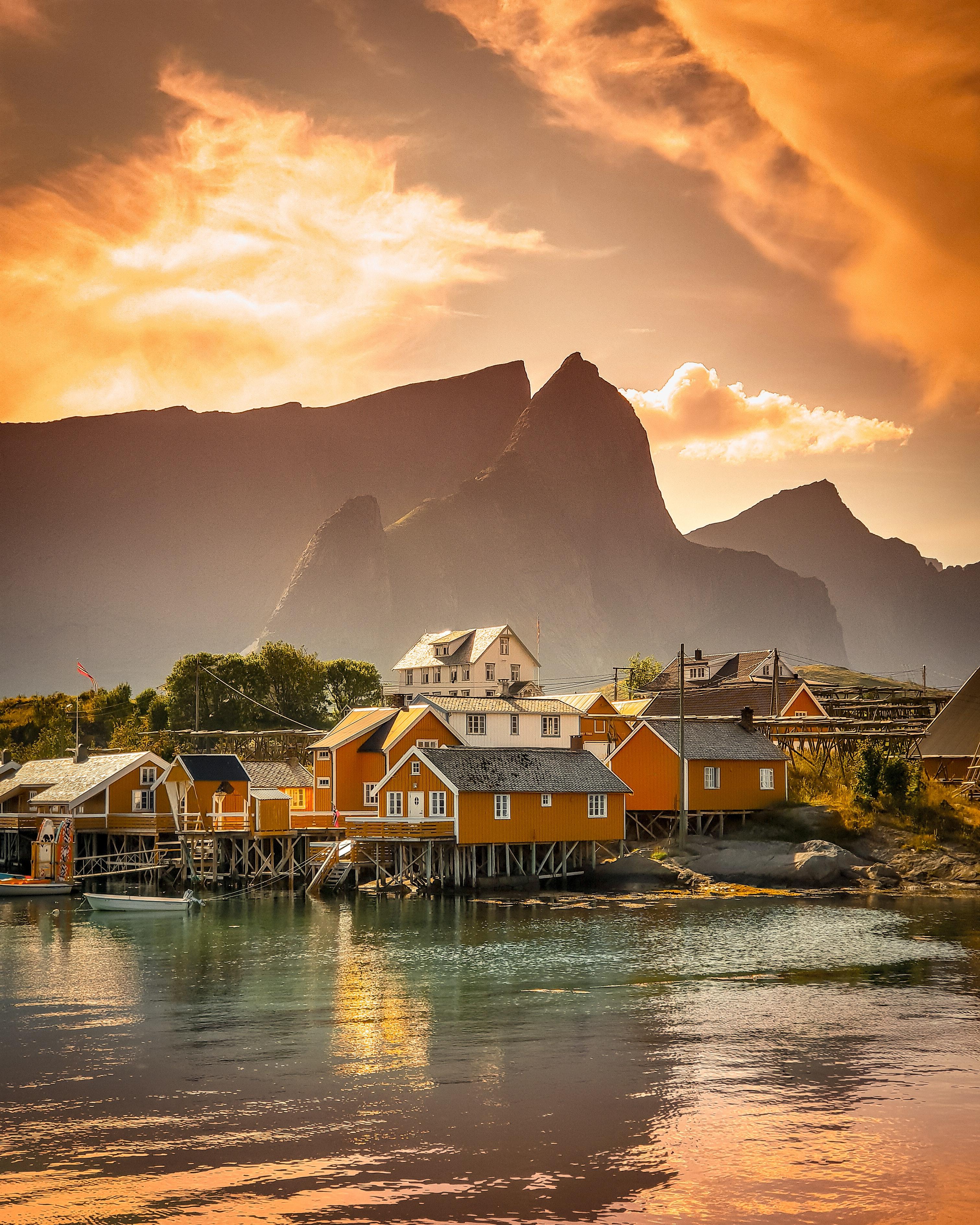 Norwegen Fischerdorf