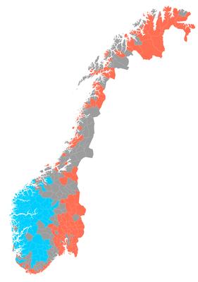 Norwegen Sprachverbreitung